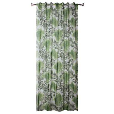 Firana na szelkach PALMAS 140 x 245 cm zielona