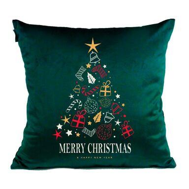 Poduszka świąteczna Christmas Tree zielona 45 x 45 cm