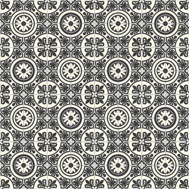 Wykładzina PCV PLAZA LAGOS czarna mozaika 3 m