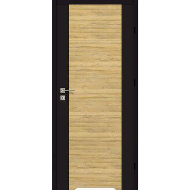 Skrzydło drzwiowe z podcięciem wentylacyjnym Dual Czarny mat/Dąb bawarski 60 Prawe Artens