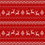 Tkanina świąteczna na mb X-Mas Deer czerwona szer. 140 cm