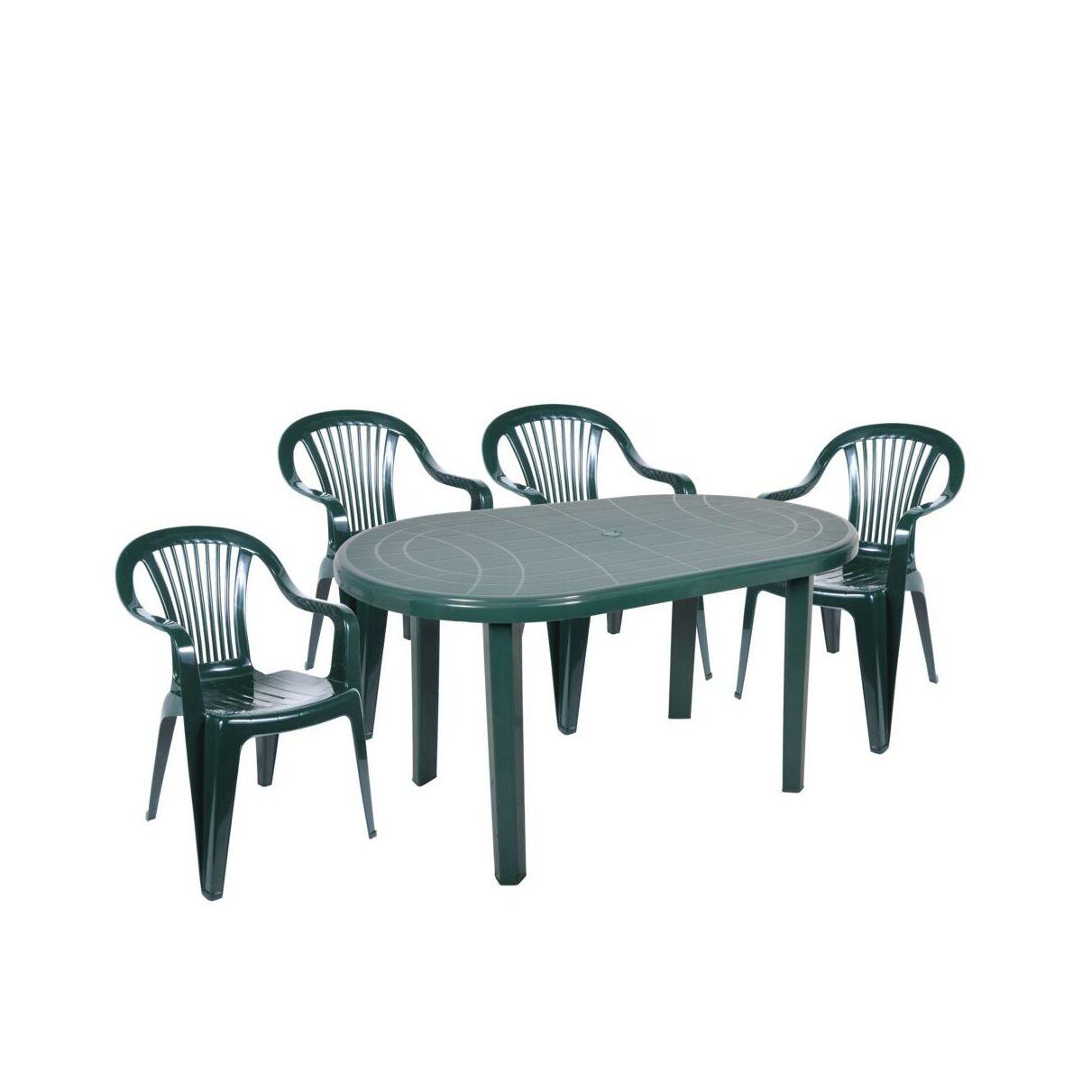 Stół Ogrodowy 70 X 135 Cm Jantar Plastikowy Zielony