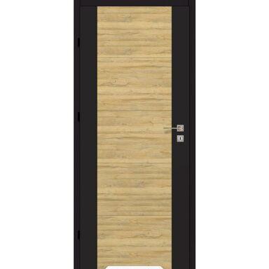 Skrzydło drzwiowe z podcięciem wentylacyjnym DUAL Czarny mat/Dąb bawarski 60 Lewe ARTENS
