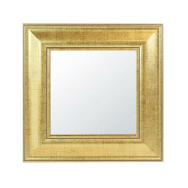 Lustro kwadratowe 970763 złote 30 x 30 cm w drewnianej ramie
