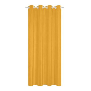 Zasłona welurowa Tony żółta 140 x 280 cm na przelotkach Inspire