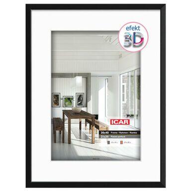 Ramka na zdjęcia EFEKT 3D 30 x 40 cm czarna drewniana