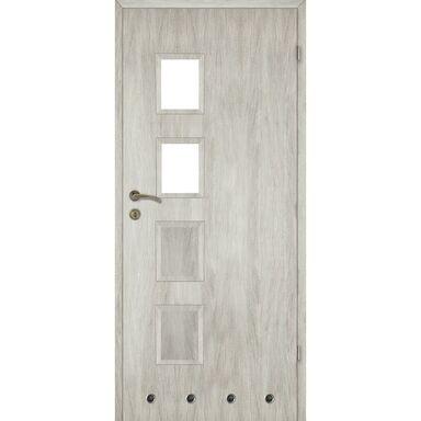 Skrzydło drzwiowe z tulejami wentylacyjnymi Alba Dąb silver 80 Prawe Artens