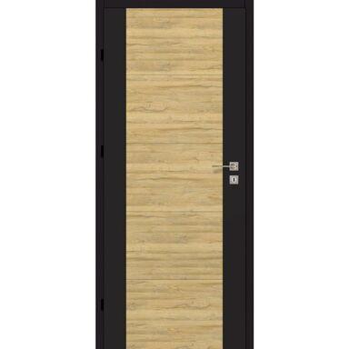 Skrzydło drzwiowe DUAL Czarny mat/Dąb bawarski 90 Lewe ARTENS