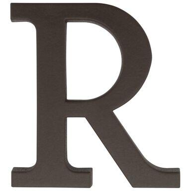 Litera R wys. 9 cm PVC brązowa