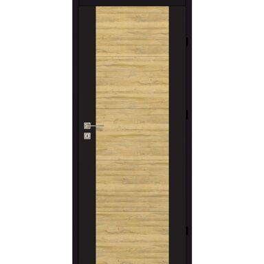 Skrzydło drzwiowe pełne DUAL Czarny mat/Dąb bawarski 80 Prawe ARTENS