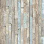 Okleina WOOD RIO OCEAN brązowo-niebieska 45 x 200 cm imitująca drewno