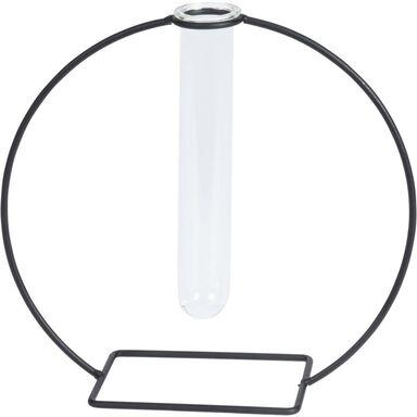 Wazon fiolka w metalowej czarnej ramie 18 x 20 cm