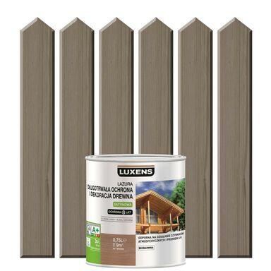 Lazura do drewna DŁUGOTRWAŁA OCHRONA I DEKORACJA DREWNA 0,75 lSzary beton LUXENS