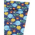 Tkanina dziecięca na mb POULPY OCEAN niebieska szer. 160 cm bawełniana