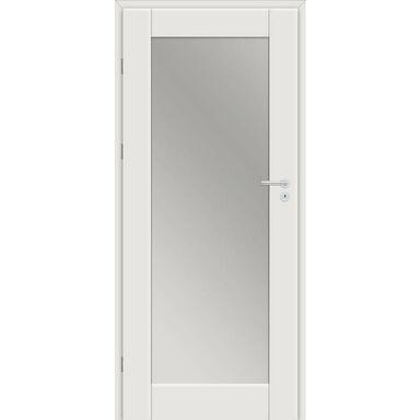 Skrzydło drzwiowe DELA Z LUSTREM Biel arktyczna 80 Lewe CLASSEN