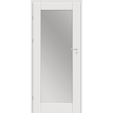 Skrzydło drzwiowe Dela z lustrem od wewnętrznej strony Biel arktyczna 80 Lewe Classen