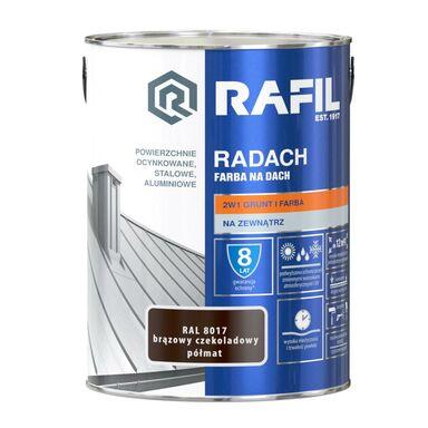 Farba na dach RADACH 5 l RAL-8017 Brązowy czekoladowy RAFIL