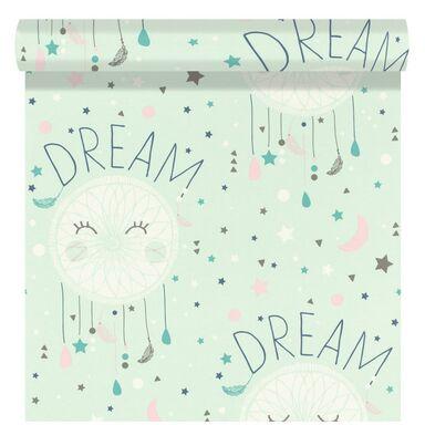 Tapeta dla dzieci DREAMCATCHER niebieska papierowa