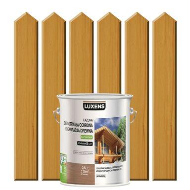 Lazura do drewna DŁUGOTRWAŁA OCHRONA I DEKORACJA DREWNA 2.5 l  Dąb naturalny LUXENS