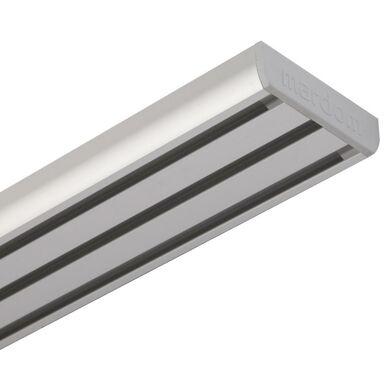 Szyna sufitowa 3-torowa 160 cm srebrna aluminowa MARDOM