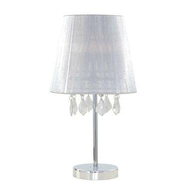 Lampa stołowa MONA srebrna E27 LIGHT PRESTIGE
