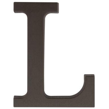 Litera L wys. 9 cm PVC brązowa