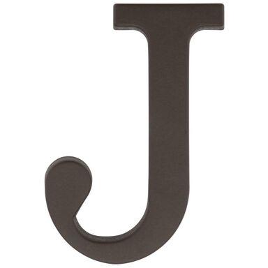 Litera J wys. 9 cm PVC brązowa