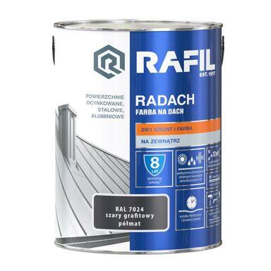 Farba na dach RADACH 5 l RAL-7024 Szary grafitowy RAFIL