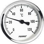 """Termometr 63 mm 1/2"""" POZIOMY AXIALNY FERRO"""