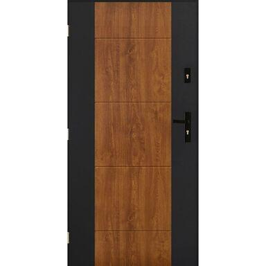 Drzwi zewnętrzne stalowe NICEA Złoty dąb 90 Lewe PANTOR