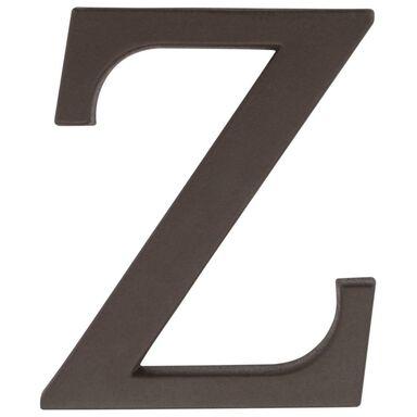Litera Z wys. 9 cm PVC brązowa