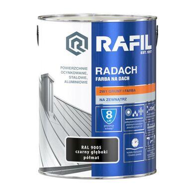 Farba na dach RADACH 5 l RAL-9005 Czarny głęboki RAFIL