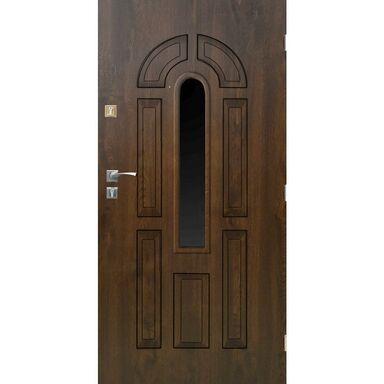 Drzwi zewnętrzne stalowe CORDOBA Orzech 90 Prawe SEDRO