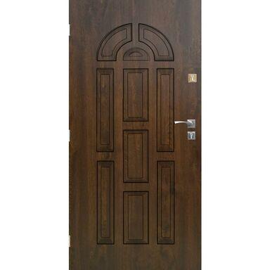 Drzwi zewnętrzne stalowe VALENCIA Orzech 80 Lewe SEDRO