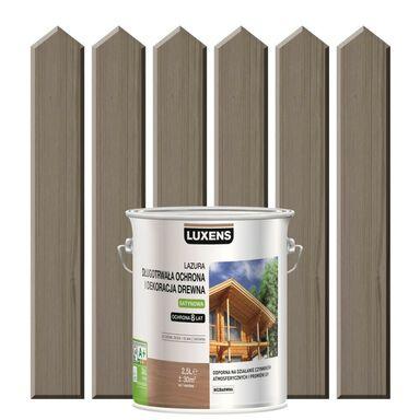 Lazura do drewna DŁUGOTRWAŁA OCHRONA I DEKORACJA DREWNA 2.5 l  Szary beton LUXENS