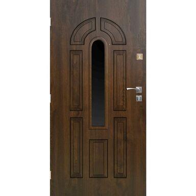 Drzwi zewnętrzne stalowe CORDOBA Orzech 90 Lewe SEDRO