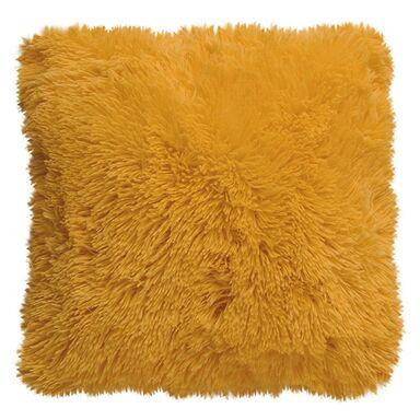 Poduszka Futrzak żółta 40 x 40 cm