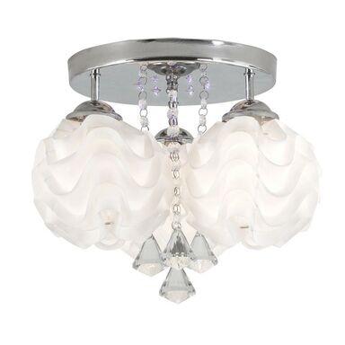 Lampa sufitowa SADA biała z chromem E14 LIGHT PRESTIGE