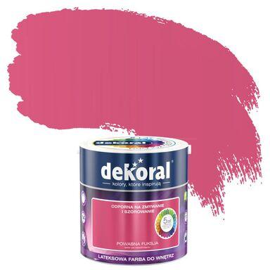 Farba wewnętrzna AKRYLIT W 2.5 l Powabna fuksja DEKORAL