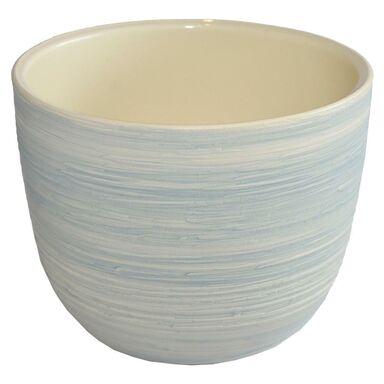 Doniczka ceramiczna 20 cm szara KLASYK CERAMIK