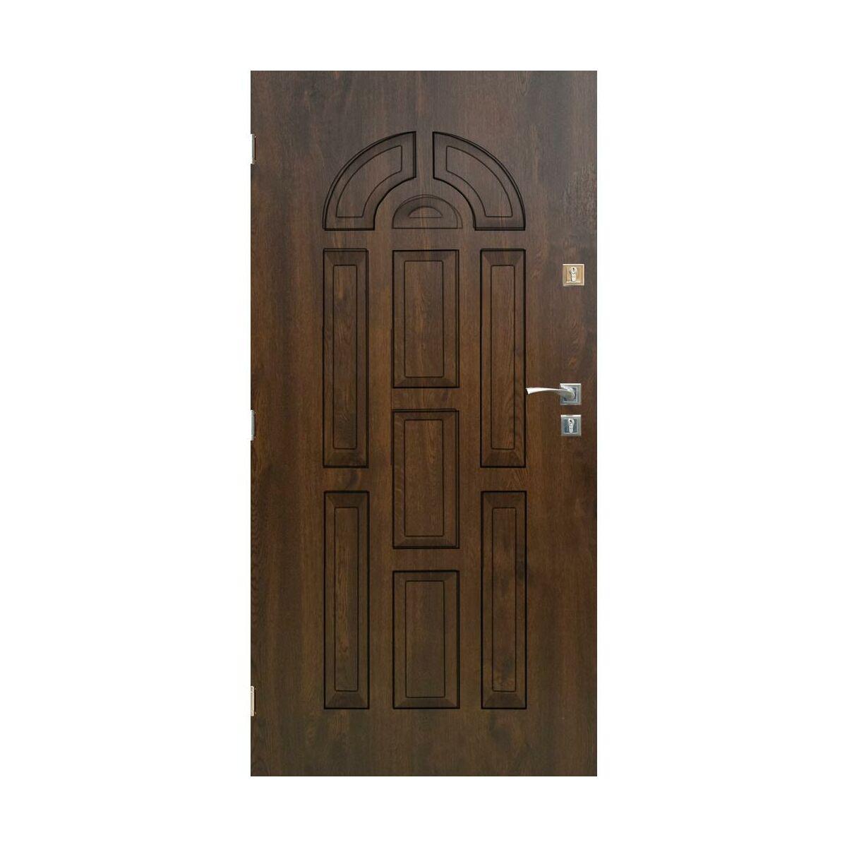 Drzwi Wejsciowe Valencia Orzech 90 Lewe Sedro Drzwi Wejsciowe Do Domu Mieszkania W Atrakcyjnej Cenie W Sklepach Leroy Merlin