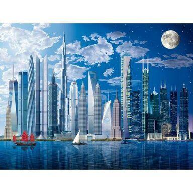 Fototapeta WORLDS TALLEST BUILDINGS 254 x 366 cm