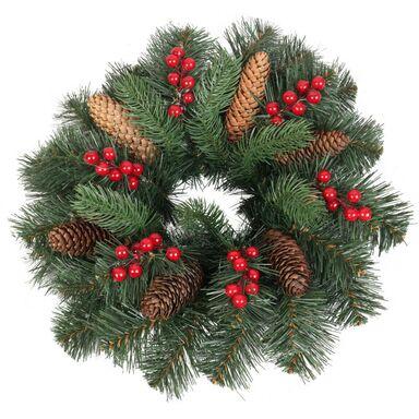 Wianek świąteczny z szyszkami 40 cm zielony