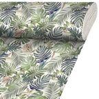 Tkanina na mb Anea zielona w liście szer. 140 cm Inspire