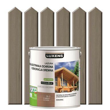 Lazura do drewna DŁUGOTRWAŁA OCHRONA I DEKORACJA DREWNA 5 lSzary beton LUXENS