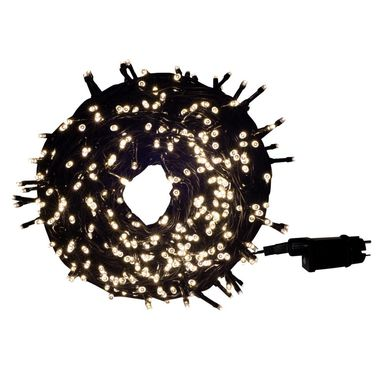 Lampki choinkowe zewnętrzne 29.95 m 600 LED białe ciepłe z timerem i gniazdem