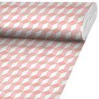 Tkanina bawełniana na mb Zait różowa szer. 140 cm Inspire