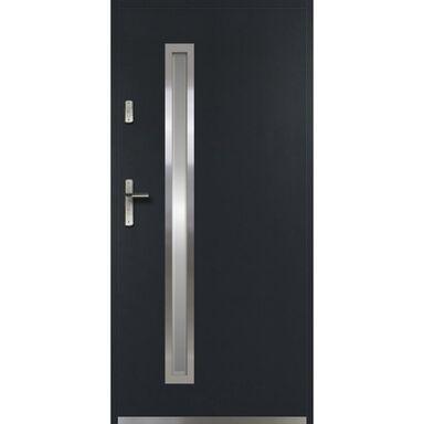 Drzwi zewnętrzne stalowe  DIANA Antracyt 90 Prawe OK DOORS TRENDLINE