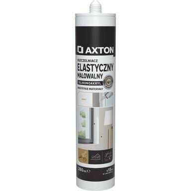 Uszczelniacz silikonoakryl ELASTYCZNY malowalny 280 ml biały AXTON
