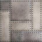 Panel kuchenny szklany Steel wall 60 x 60 cm Alfa-Cer